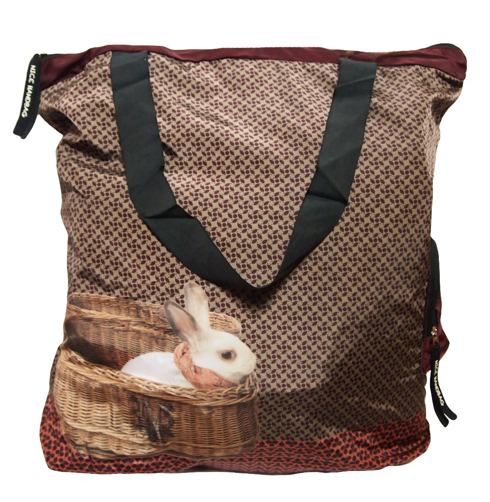 Nice Things Rabbit Shopper Bag Red Born2style Fashion Store