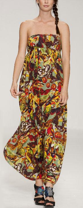 Desigual Maxi Dress Manzanilla M Born2style Fashion Store