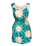 Darimeya Chess Clock dress turquoise