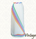 Vintage Rainbow 70´s skirt S white