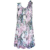 Angeleye Amanda Flower dress pink S-XL