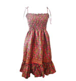Aromdee Lamai dress red-beige S/M