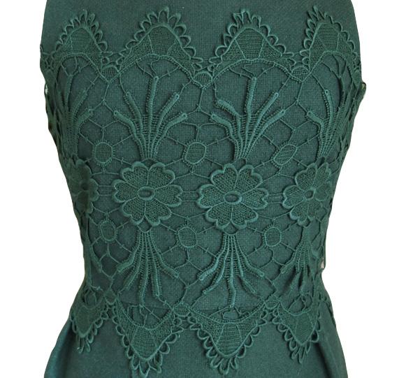 Darling Anya Kleid Spitze grün L - Born8Style Fashion Store