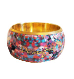 Desigual Firefly arm bracelet gold multi 2nd grade goods