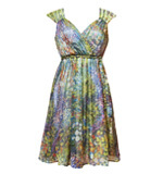 Traffic People Bless dress Prairie silk green S-M