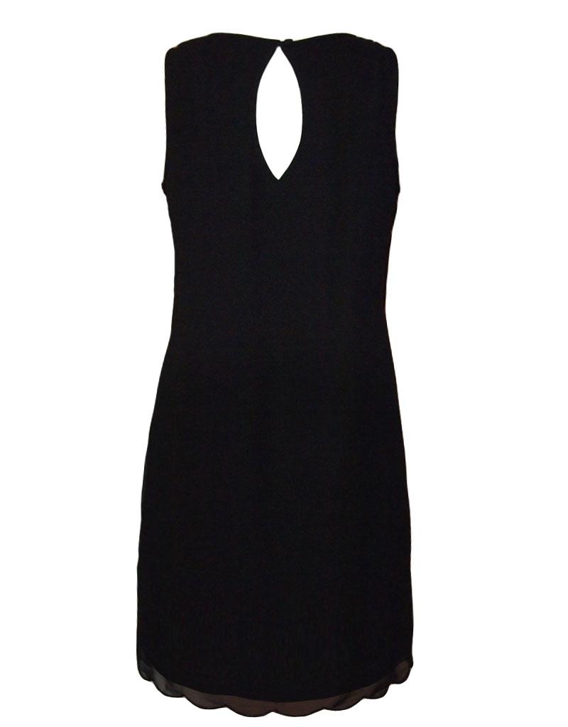 yumi pearl detail shift kleid schwarz s born2style fashion store. Black Bedroom Furniture Sets. Home Design Ideas