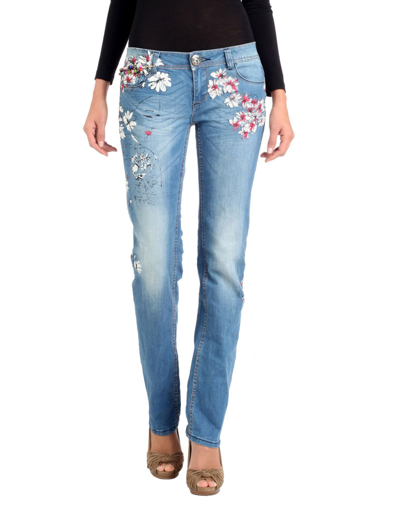 Desigual Tropical Flowers jeans 26 - Born2Style Fashion Store c4fd7359f3ee