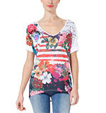 Desigual TS Ana T-shirt red M