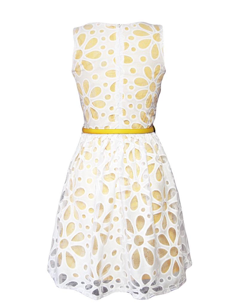 Yumi Daisy Cut-Out Prom Kleid gelb L-XL - Born2Style ...