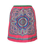 Nice Things Scarf print silk skirt L-XL