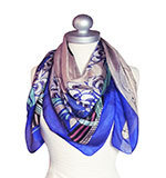 St-Martins Delight silk scarf blue