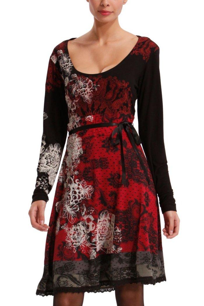 Desigual Lanoria Kleid Cognac Fresa L Born2style Fashion Store