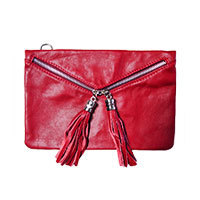 La Vie Léonie leather bag red