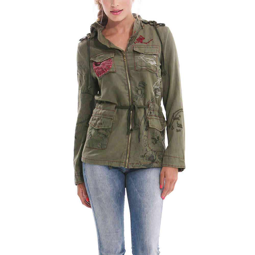 Verde Flor Ame Militar Desigual 40 Fashion Born2style Jacket Store n7txqqw1