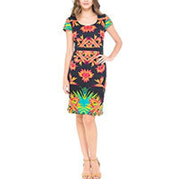 Surkana Adriana Trip dress black