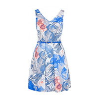 Closet Tropical Kleid floral blue