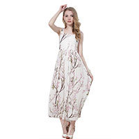 Cherry Blossom Midi dress white XS-S