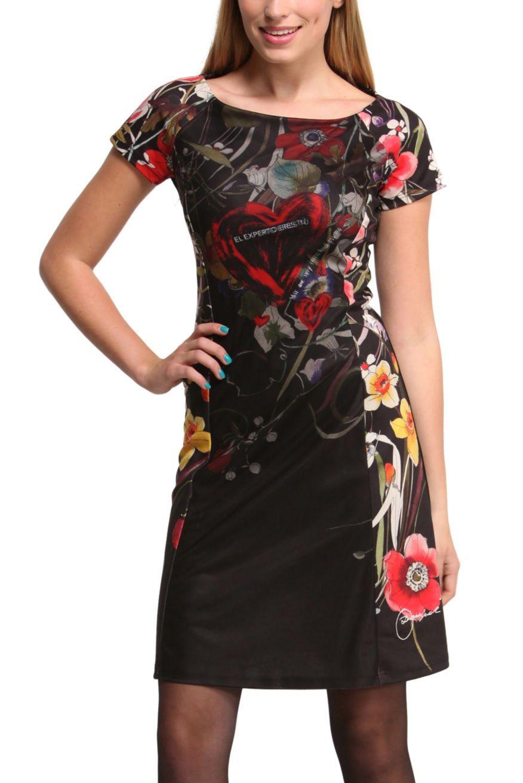 desigual lara kleid schwarz neue xl - born2style fashion store