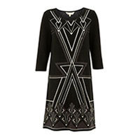 Yumi Art Deco dress black S