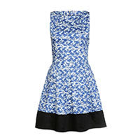 Closet Flamingo Print dress blue XXS