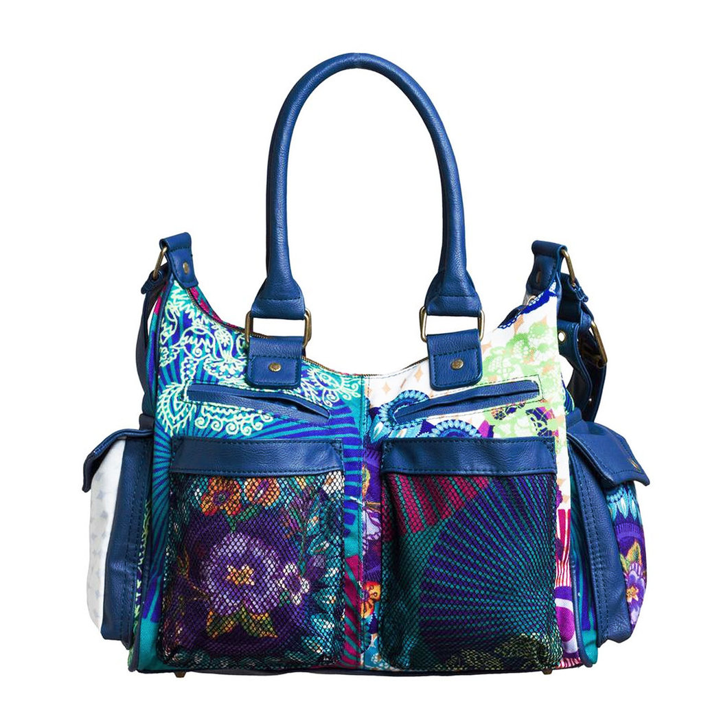 run shoes free shipping top brands Desigual London Floreada Carry bag - Born2Style Fashion Store