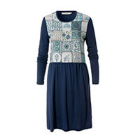 Nice Things Blue Tiles Wollkleid blau S