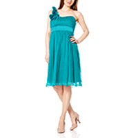 Fever London Ivy silk dress jewel green XS-S