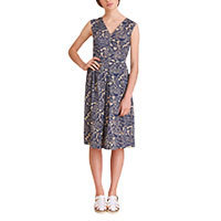 Nice Things Indigo Flowers dress S
