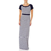 Fever London Brighton Maxi dress navy white