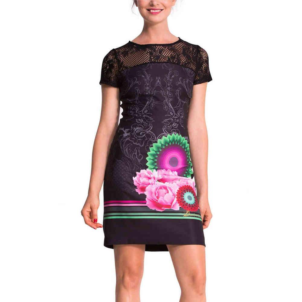 desigual matty kleid schwarz l - born2style fashion store