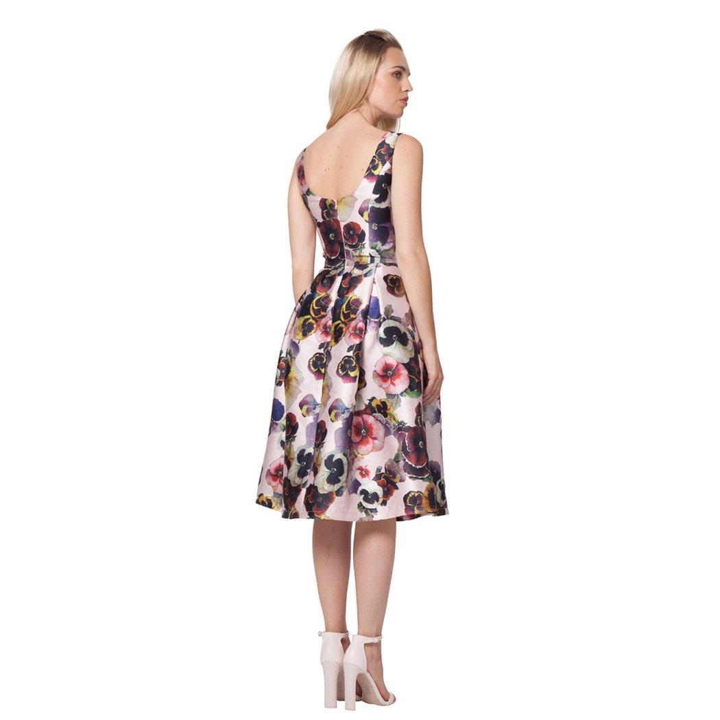 chi chi marina midi dress rosé s/m - born2style fashion store