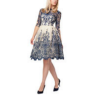 Chi Chi Georgina dress navy-creme M