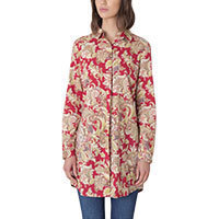 Nice Things Paisley Print tunic blouse red S/M