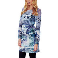 Yumi Mountain Print Tunic Kleid multi