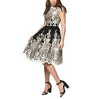 innovatives Design neue Produkte für überlegene Leistung Chi Chi Clara Kleid schwarz-gold M