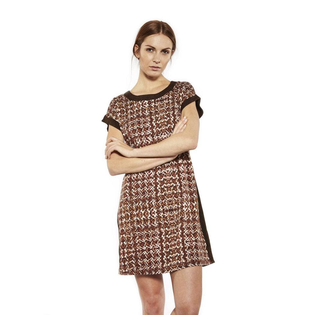 Lavand Mathilde Kleid braun M-XL - Born2Style Fashion Store