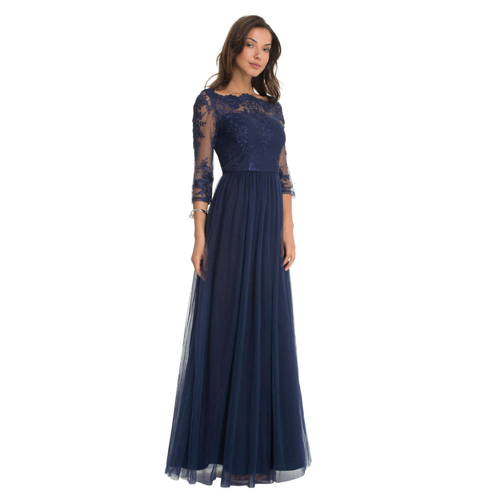 chi chi saskia maxi dress navy m-l - born2style fashion store