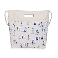 Nice Things Swimmer Print Tasche weiß