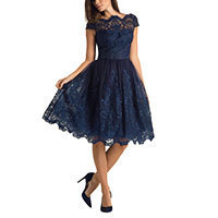 Chi Chi April Kleid navy