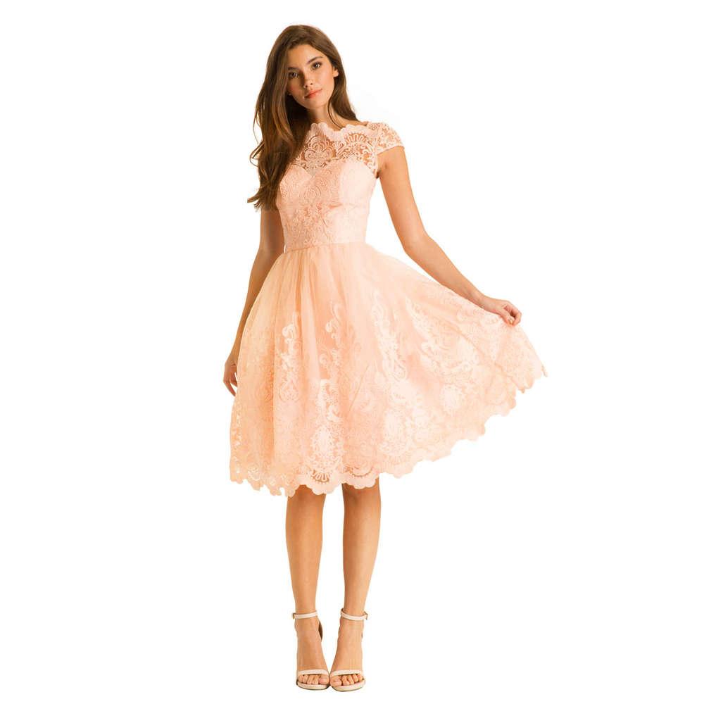 Chi Chi Mackenzie Kleid peach M - Born11Style Fashion Store