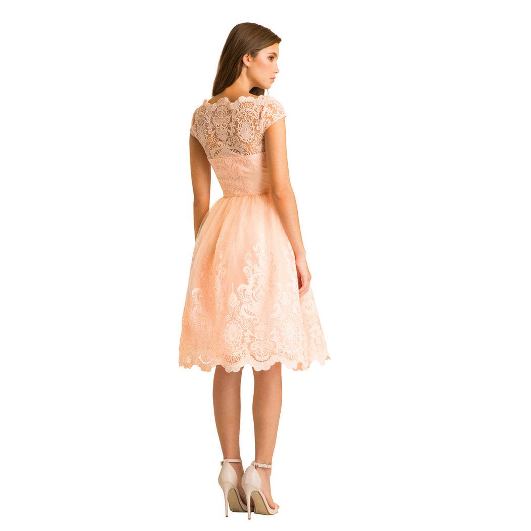 Chi Chi Mackenzie dress peach M - Born17Style Fashion Store