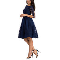 Chi Chi Darin lace dress navy M-XL