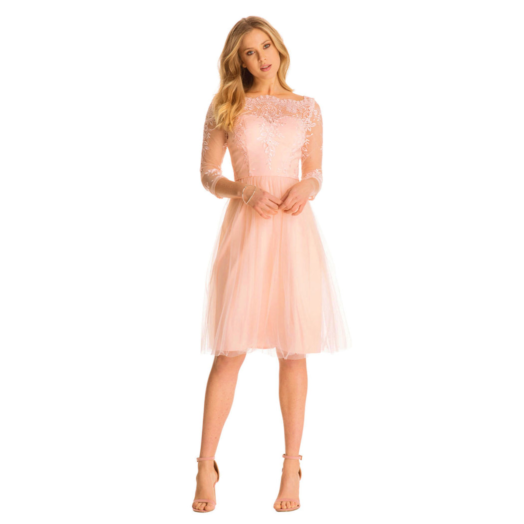 Chi Chi Charne Kleid rose cloud - Born16Style Fashion Store