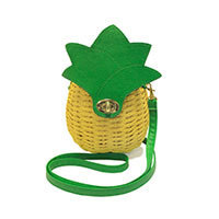 Collectif Pineapple Wicker Bag