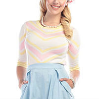 Collectif Esme Striped Pullover rosa