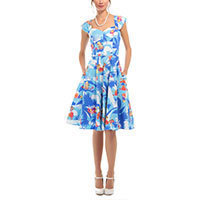 Collectif Aida Zak Sandra Hawaiian Swing Kleid