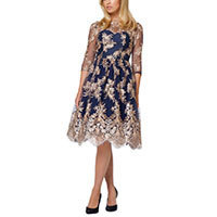 Chi Chi Effie Kleid navy-gold S