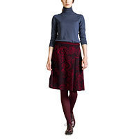 Ivko Jacquard with Pleats Skirt brown-red (62525) 42