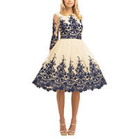 Chi Chi Mariah dress creme-navy L