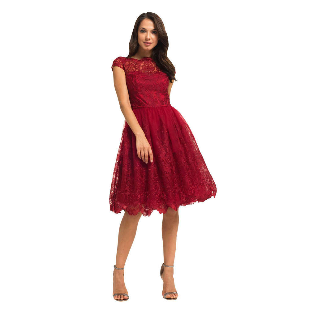 877867144c54d Chi Chi Dione dress red XS - Born2Style Fashion Store